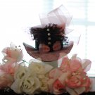 fancy pink ribbon mini party hat