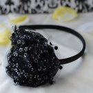 flower headband-black