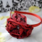 flower headband-red