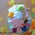 candy cake mini top hat