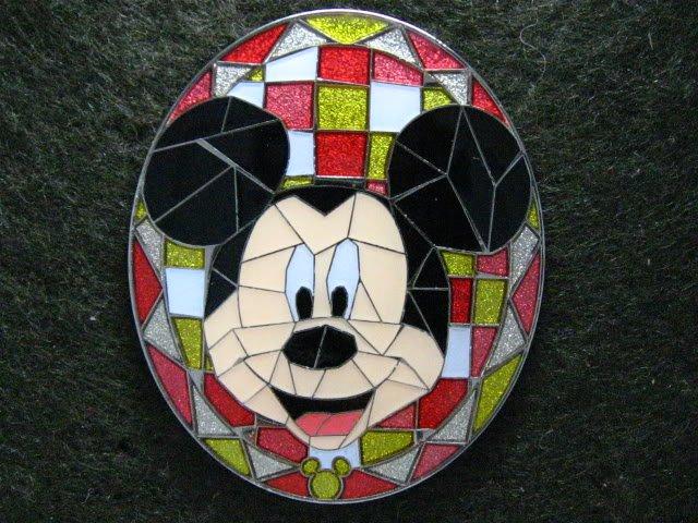 Disney Pin 2009 HKDL Mystery Tin Pin Mosaic Collection - Mickey