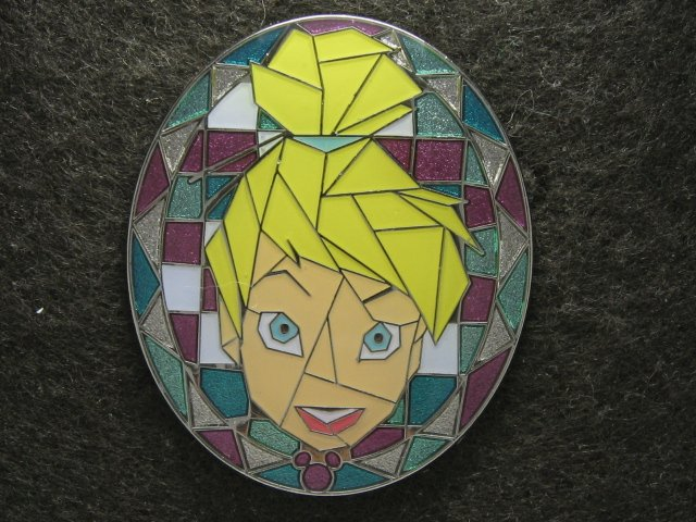 Disney Pin 2009 HKDL Mystery Tin Pin Mosaic Collection - Tinker Bell