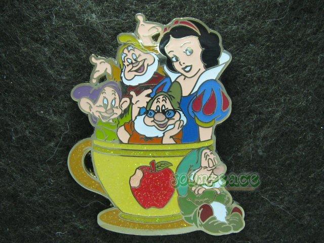 Disney Pin 2011 HKDL Mystery Tin Pin Tea Cup Collection - Snow White & the Dwarfs