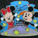 Disney Pin HKDL 2007 Mickey & Minnie on Space Mountain
