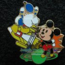 Disney Pin HKDL 2007 Cute Characters - Angry Donald with Mickey