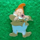 Disney 2006 Pin HKDL 7 Dwarfs - Happy Holding Jeweled Flower