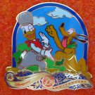 Disney Pin HKDL 2007 2nd Year Anniversary - Donald & Pluto