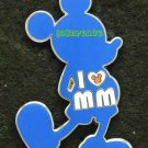 Disney Pin 2011 - Standing Mickey Mouse - I Love MM (Blue)