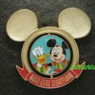 Disney Pin HKDL 2010 Mickey Football Club Spinner pin - Mickey and Donald