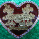 Disney Pin 2007 HKDL Mickey and Minnie - Stained Glass Heart