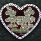 55444 Disney Pin 2008 HKDL - Mickey and Minnie - Stained Glass Heart