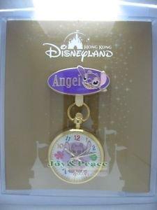 71498 Disney Pin 2009 HKDL Pin Trader Clock Pin Series - Angel (LE800) RARE