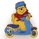 84012 Disney Pin 2011 HKDL Mystery Tin Pin Motorbike Collection - Pooh