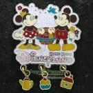 54644 Disney Pin 2007 HKDL - Classic Minnie & Mickey (Dangle)