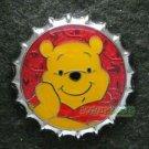 81358 Disney Pin 2010 HKDL Mystery Tin Pin Bottle Cap Collection - Pooh