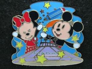 56097 Disney Pin 2007 HKDL - Bendy Mickey & Minnie on Space Mountain