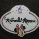 77927 Disney Pin 2010 HKDL Mystery Tin Pin Name Tag Collection - Minnie