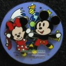 76688 Disney Pin 2007 HKDL - Cute Mickey & Minnie Spinner