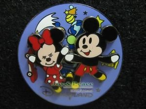 76688 Disney Pin 2007 HKDL - Cute Mickey & Minnie Spinner