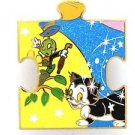 81828 Disney Pin 2010 HKDL Mystery Tin Puzzle Collection - Jiminy Cricket Figaro