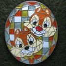73724 Disney Pin 2009 HKDL Mystery Tin Pin Mosaic Collection - Chip and Dale