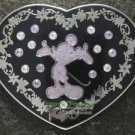 64004 Disney Pin 2008 HKDL - Silhouette in Jeweled Heart - Mickey Mouse