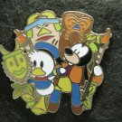 56105 Disney Pin 2007 HKDL - Bendy Donald and Goofy in Adventureland (Slider)
