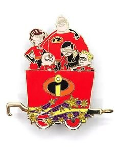 53030 Disney Pin 2008 HKDL Mystery Tin Character Train Collection - INCREDIBLES