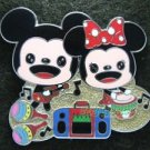 85243 Disney Pin 2010 HKDL - Cuties 4 pin booster set Playtime (Mickey & Minnie)