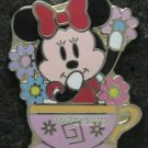 56192 Disney Pin 2007 HKDL - Bendy Mickey Family- 4 Pin Set - Minnie Mouse Only