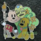 56104 Disney Pin 2007 HKDL - Bendy Mickey & Pluto in Adventureland
