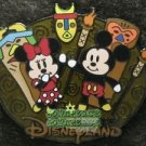 56814 Disney Pin 2007 HKDL - Cute Characters - Mickey and Minnie with Tikis