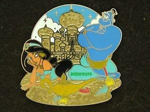 88804 Disney 2011 HKDL Mystery Tin Pin Golden Beach Coll - Jasmine & Genie