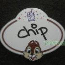 77999 Disney Pin 2010 HKDL Mystery Tin Pin Name Tag Collection - Chip