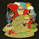 90369 Disney 2011 HKDL Mystery Tin Pin Golden Beach Coll - The Incredibles