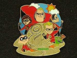 90369 Disney 2011 HKDL Mystery Tin Pin Golden Beach Coll - The Incredibles