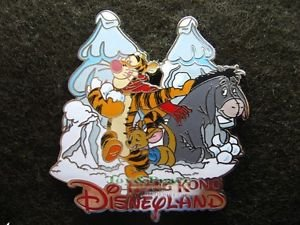 51102 Disney Pin 2006 HKDL - Christmas 2006 (Tigger, Eeyore & Roo in the Snow)