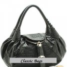 BEAUTIFUL BLACK DESIGNER SPY HANDBAG PURSE