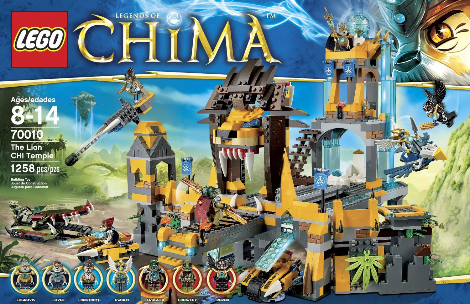 LEGO 70010 Legends of Chima The Lion Chi Temple Set by alextoys