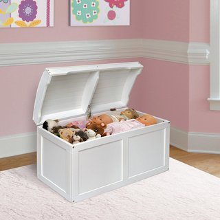 White Barrel Top Toy Chest by alextoys