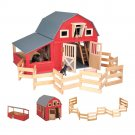 Maxim Enterprise Red Gable Barn And Run In Shed by alextoys