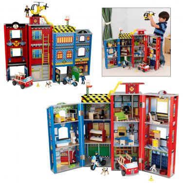 Everyday Heroes Wooden Play Set, Everyday Heroes Police and Fire Play Set by alextoys