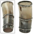 Amazing Medieval Renaissance Stud Decorated Genuine Horn Tumbler Mug Cup