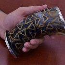 "Amazing Handmade Triangle Stripe Water Buffalo Horn Drinking Cup Mug 5"""