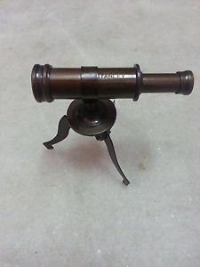 Vintage Old Style Nautical Telescope with stand (Maritime) in antique