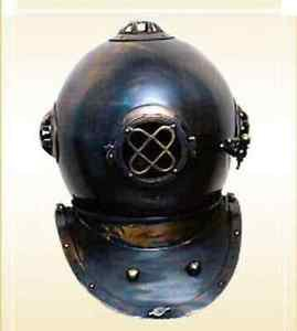 "Antique 18"" Divers Helmet Brass Diver's Helmet Collectible Nautical Gif"