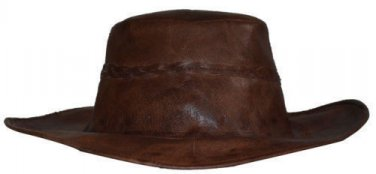 Vintage Cowboy style beautiful stylish authentic genuine leather hat fal