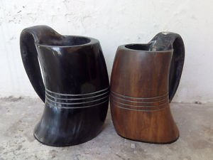 Large Viking drinking horn mugs beaker Game of thrones ceremonial