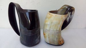 Large Viking drinking horn mugs beaker Game of thrones ceremonial wedding gift