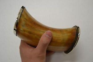 "(03.03) Medieval Buffalo Burnt plain Viking Drinking Cup Mug 6"" Beer Mug Cup"